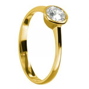 Verlobungsring Rom Gelbgold