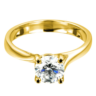 Verlobungsring Venedig Gelbgold