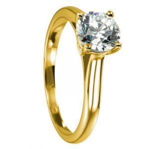 Verlobungsring Wien Gelbgold