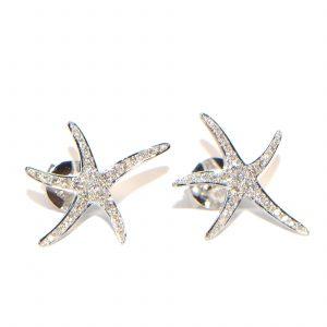 Diamant Ohrstecker Seesterne