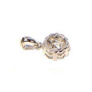 Diamant Anhänger 0,47 ct. in 750er Weissgold (18K)