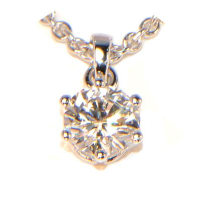 Diamant Anhänger Solitär 6 Krappen