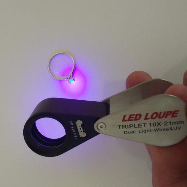 LED Lupe Einschlaglupe 10-fach