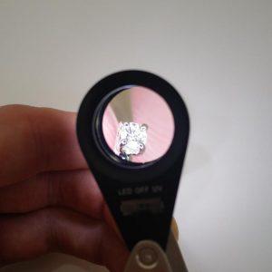 LED Lupe Einschlaglupe 10-fach ohne externe Lichtquelle