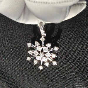 Diamant Anhänger 0,43 ct. in Weissgold 18K Schneeflocke 2