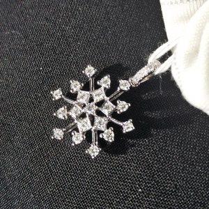 Diamant Anhänger 0,43 ct. in Weissgold 18K Schneeflocke 3