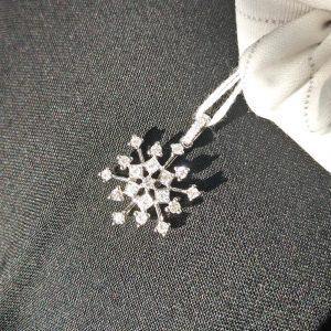 Diamant Anhänger 0,43 ct. in Weissgold 18K Schneeflocke 4