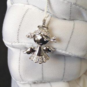 Diamant Anhänger Engel 1
