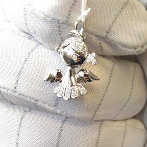 Diamant Anhänger Engel 2