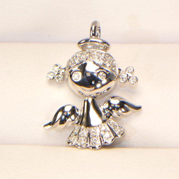 Diamant Anhänger Engel 5