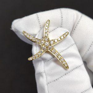 Diamant Anhänger Gelbgold Seestern 2
