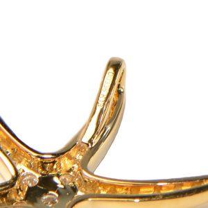 Diamant Anhänger Gelbgold Seestern 3