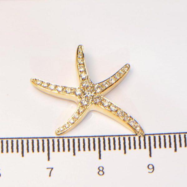Diamant Anhänger Gelbgold Seestern 4