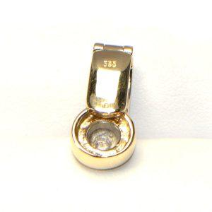 Diamant Anhänger Gelbgold Weissgold Bicolor 585