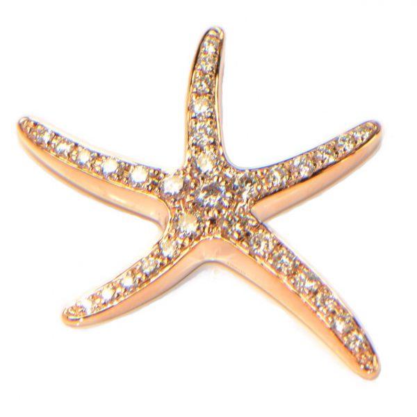 Diamant Anhänger Roségold Seestern 1