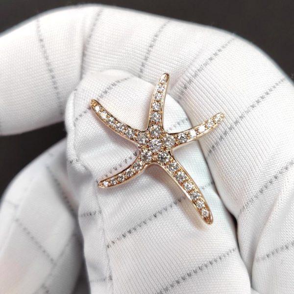 Diamant Anhänger Roségold Seestern 2