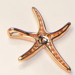 Diamant Anhänger Roségold Seestern 3