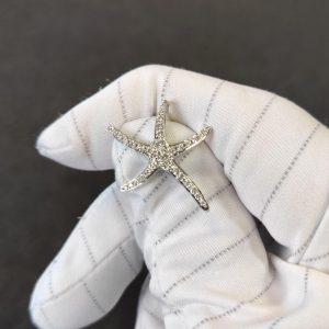 Diamant Anhänger Weissgold Seestern 4