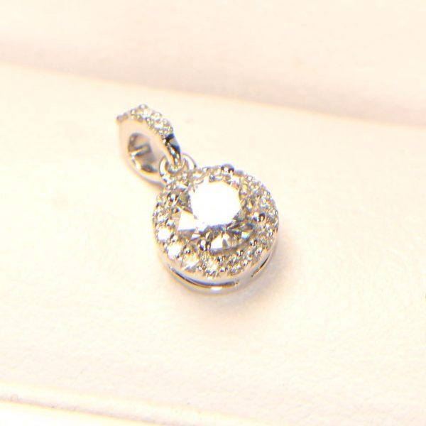 Diamant Anhänger Weissgold rund