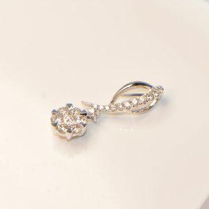 Diamant Anhänger in Weissgold Blüte