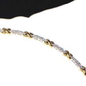 Diamant Armband bicolor Weissgold Gelbgold modern