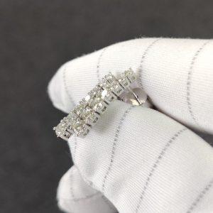 Diamant Ohrstecker Ohrhänger lang Weissgold