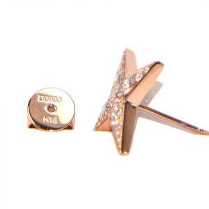 Diamant Ohrstecker Rosegold Stern