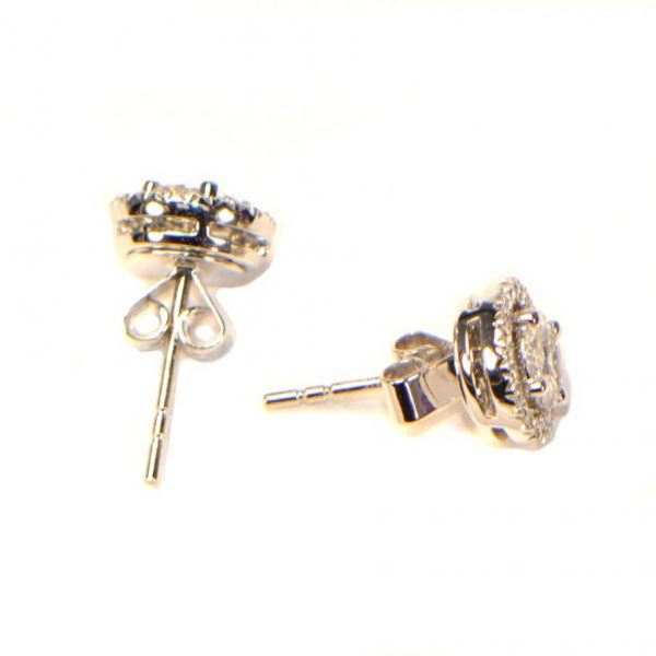 Diamant Ohrstecker Weissgold Marquise Princess