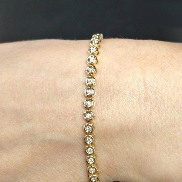 Diamant Tennis Armband Gelbgold