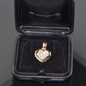 Anhänger Gelbgold Princess Diamanten Herz