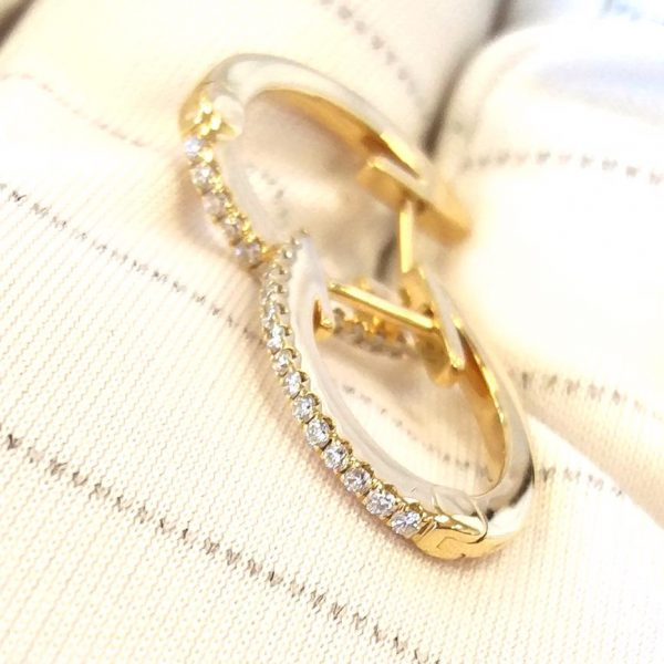 Diamant Creolen Kreolen Gelbgold 18K