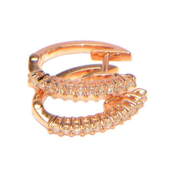 Diamant Creolen Rosegold 18 Karat