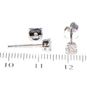 Diamant Ohrstecker Weissgold klein