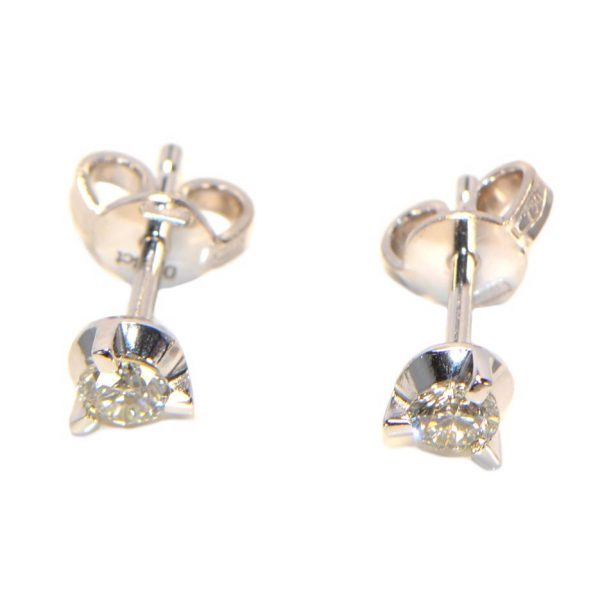 Diamant Ohrstecker 3 Krappen Weissgold