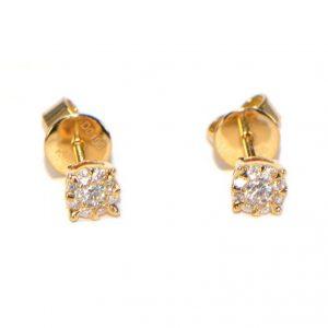 Diamant Ohrstecker Gelbgold 18K
