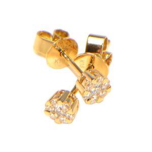 Diamant Ohrstecker Gelbgold Illusion klein