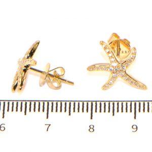 Diamant Ohrstecker Gelbgold Seesterne