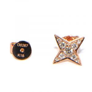 Diamant Ohrstecker Rosegold Sterne klein