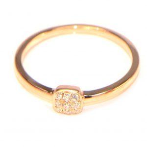 Diamantring Rosegold