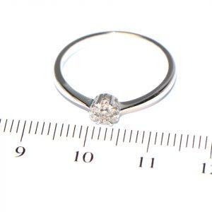 Diamantring Weissgold Illusion klein
