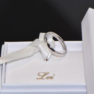 Ehering Trauring Weissgold 18K