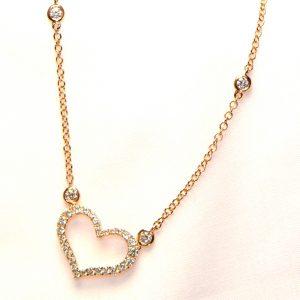 Herz Diamant Collier Rosegold 18K 2
