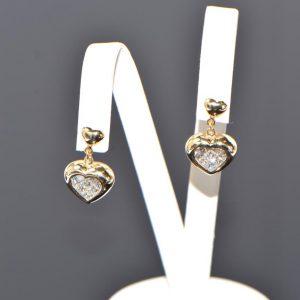 Ohrstecker Gelbgold Princess Diamanten Herz