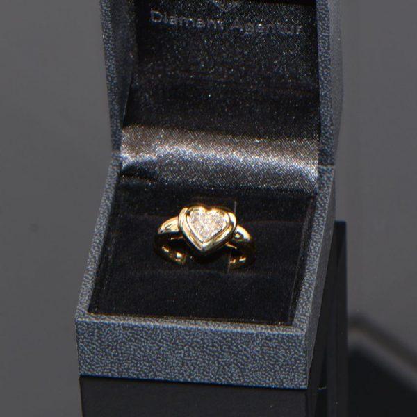 Ring Gelbgold Princess Diamanten Herz