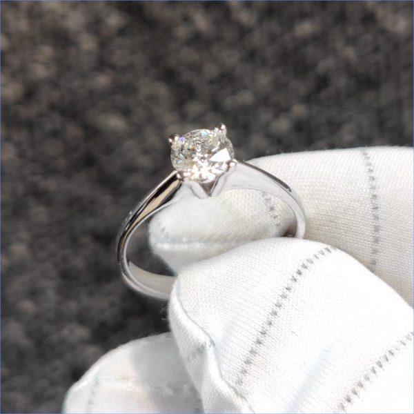 Diamantring Verlobungsring Weissgold 0,50 ct. Halbkaräter