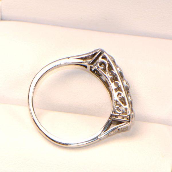 Diamantring Weissgold Altschliff Antik