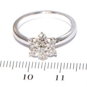 Diamantring Weissgold Blüte Brillantring