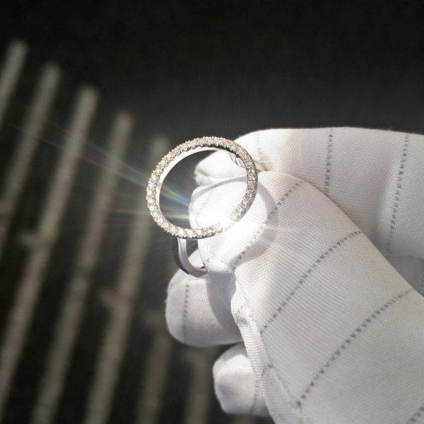 Diamantring Weissgold Kreis