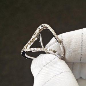 Diamantring Weissgold modern fast 2 Karat