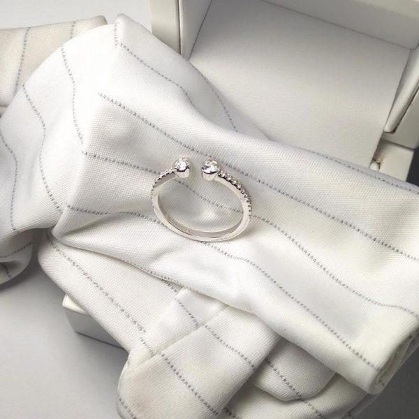 Diamantring Zwei Köpfe Weissgold